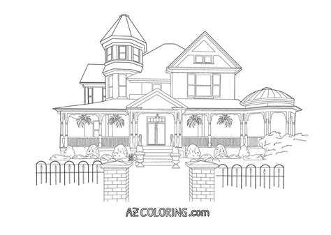 coloring pages victorian houses victorian house coloring pages coloring home