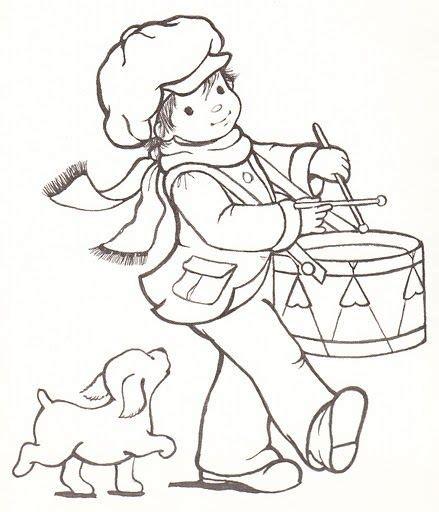 little boy coloring page clipart drummer boy clipart 43