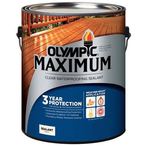 olympic maximum  gal clear waterproofing sealant