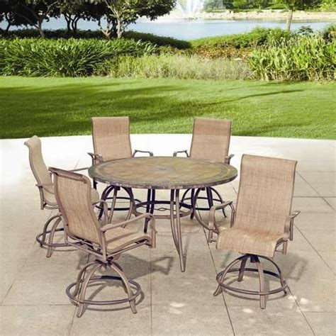 Menards Outdoor Patio Furniture Backyard Creations 6 Avondale Balcony Dining Collection At Menards Patio Furniture