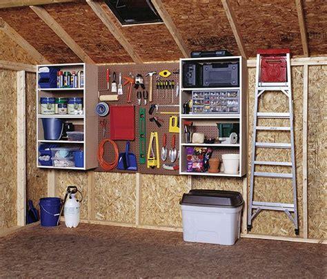 shed organization  storage     ground