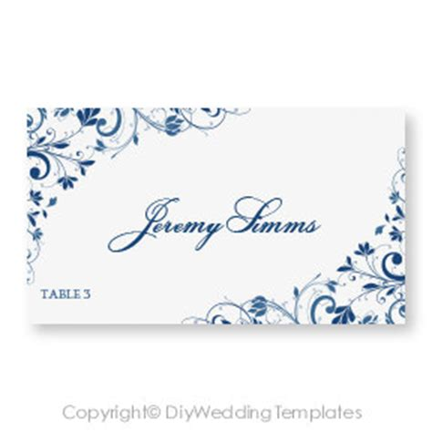 Ms Word Place Card Template wedding place card template by diyweddingtemplates