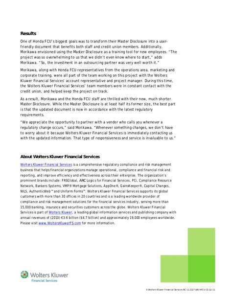 Honda Federal Credit Union by Honda Federal Credit Union Partners With Wolters Kluwer
