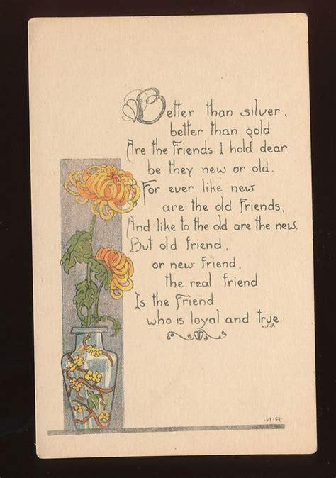 Vase Poem by Nouveau Vase Flowers Friendship Poem Antique
