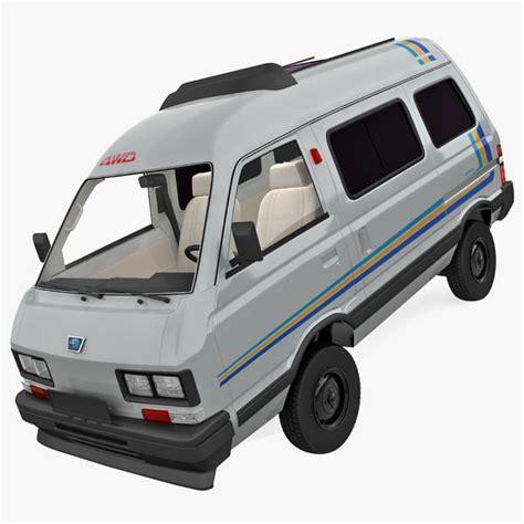 subaru libero interior 3d model subaru libero 1990