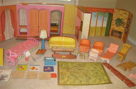 vintage barbie doll new dream house 1965 2nd cardboard