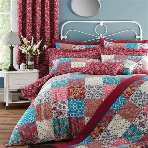 patchwork bed linen collection dunelm