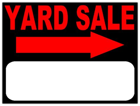 yard sale template sale signs templates clipart best