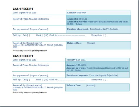 Dimensions For A Receipt Template by Business Receipt Template Free Receipt Templates