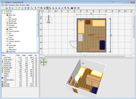 sweet home 3d tool for designing house floor plan and
