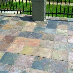 slate patio for the home pinterest
