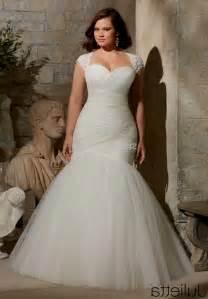 plus size wedding dresses mermaid style evening wear