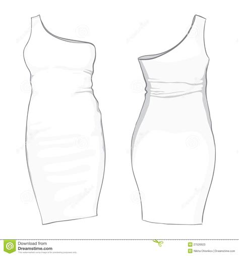 template dress stock vector image of details