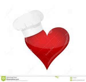 food lover concept heart and chef hat royalty free stock photo image 31135875