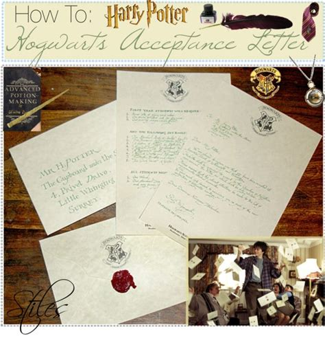 Hogwarts Acceptance Letter How To Make Quot How To Make Your Own Harry Potter Hogwarts Acceptance Letter 3 Quot By The Tip Of Neverlan