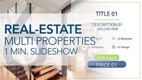 Real Estate Multi Properties 1min Slideshow 6 Final Cut Pro X Template Cut Pro X Slideshow Template