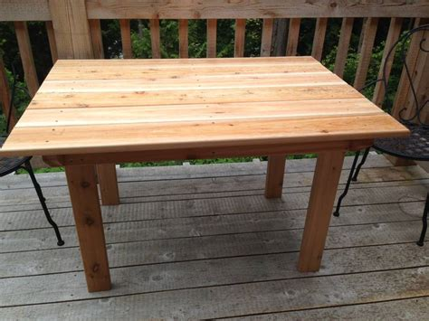 Cedar Patio Table Plans Wooden Table Plans Free Diy Woodworking Projects