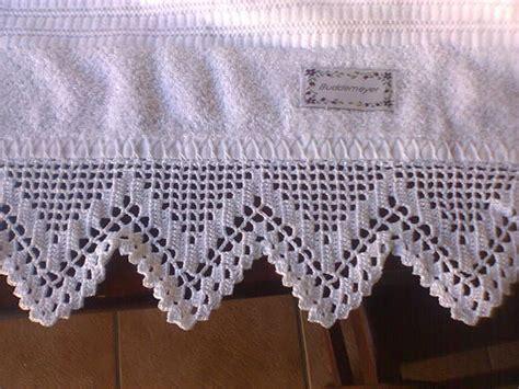 bicos de croch elo7 bico em toalha de banho croch 234 s de maria rossi elo7