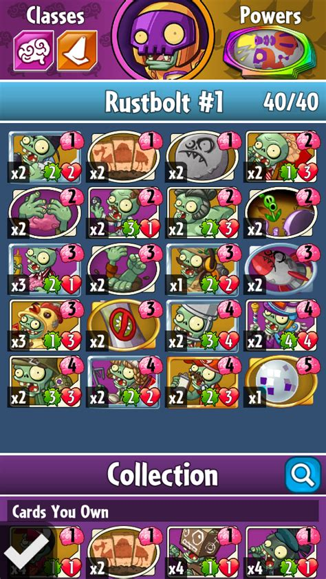 Pvz Heroes Card Template by Image Rustbolt Deck Png Plants Vs Zombies Wiki