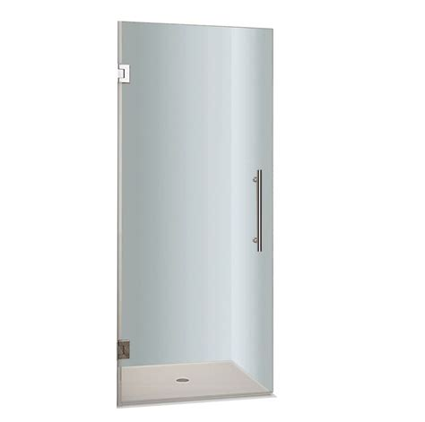 23 Shower Door Aston Cascadia 23 In X 72 In Completely Frameless Hinged