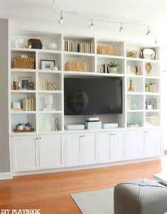 Living Room Bookshelves And Cabinets 25 Best Ideas About Tv Shelving On Industrial