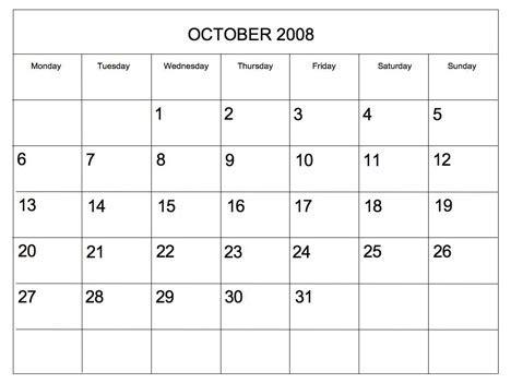 Editable 2008 Blank Calendar Powerpoint Calendar Template