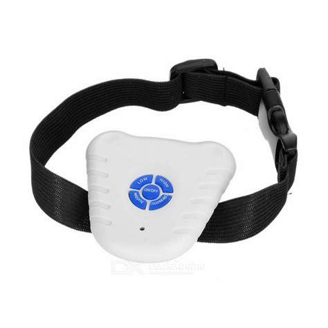 bark stopper ultrasonic bark stop collar for dogs barking white free shipping