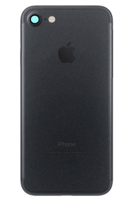 apple iphone   cover black mobile parts