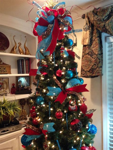 christmas tree decorations turquoise christmas decorating