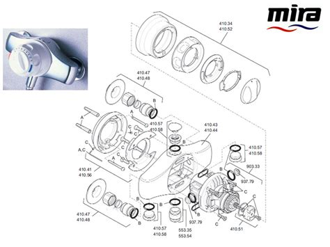 Mira Shower Spare Parts by Mira Excel 1996 2003 Shower Spares And Parts Mira