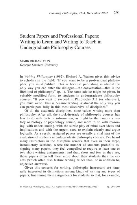 Teachers Essay Exles by Paper On Philosophy Of Teaching Th Wcp Teaching Philosophy Paper Title