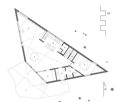 triangular house floor plans gallery of triangle house jva 19