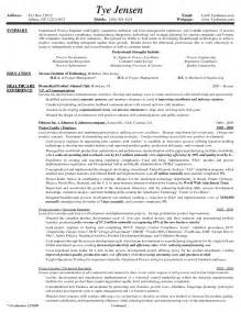 chemical process engineer sle resume free sle cover