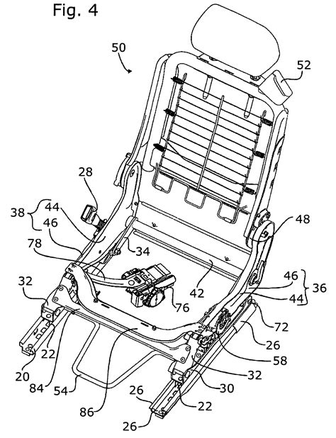 car seat structure patent us7740316 integrated car seat with lengthwise