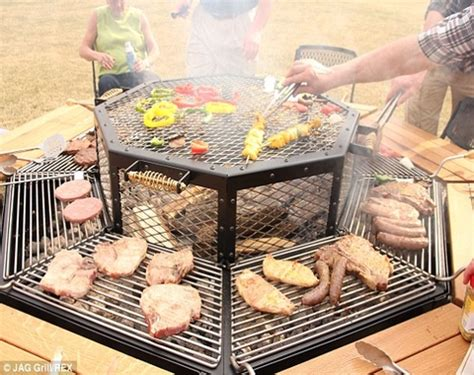 pit picnic table best pit table octagon picnic table with grill amish
