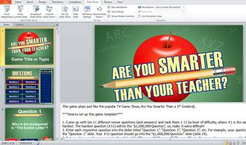 are you smarter than a 5th grader powerpoint template are you smarter than your powerpoint template tpt