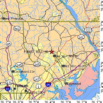 maryland forest map forest hill maryland md population data races