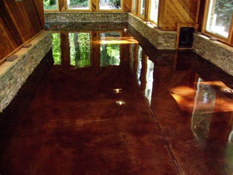 How To Finish Concrete Floors Interior by Miscellaneous Concrete Stain Colors Options Interior