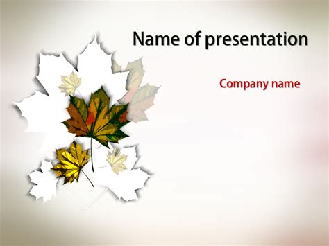 powerpoint themes leaves download free maple leaves powerpoint template for