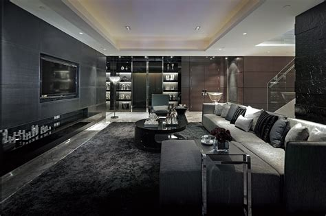 interior design black excellent luxurious living room designs dark grey