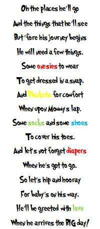 Dr Seuss Baby Shower Poems by Uyema Family Matters Dr Seuss Baby Shower Gift Poem My