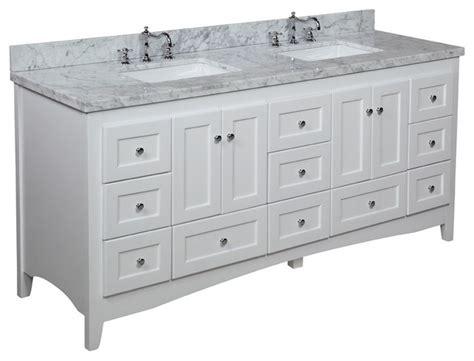 abbey bathroom vanity abbey 72 in bath vanity carrara white transitional