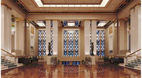 art deco hotel lobby  library  scenes interior