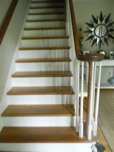chalk paint stairs hometalk whitewashed stairs and a foyer update