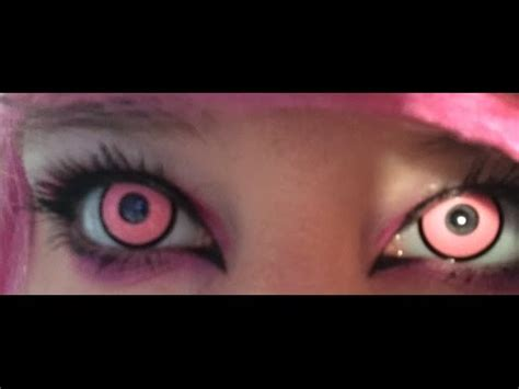 pink colored contacts pinkyparadise pink contact lenses