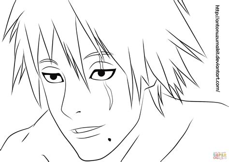 Coloring Page 24 by Crafting Itachi Coloring Pages 24 Kakashi Mascara