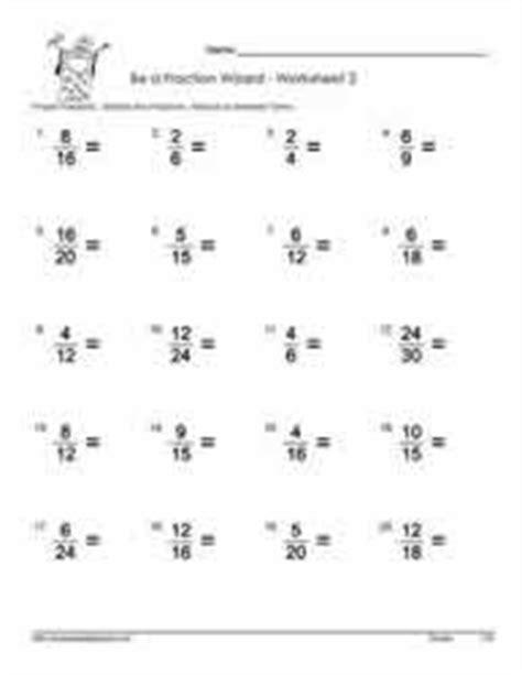 Lowest Term Worksheet by Simplify Proper Fractions Worksheets