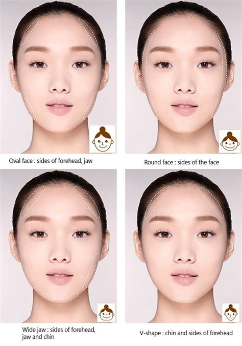 korean face shape type tutorial tips how to contour your face the korean way
