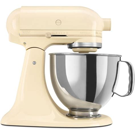 kitchenaid artisan 5 qt almond stand mixer
