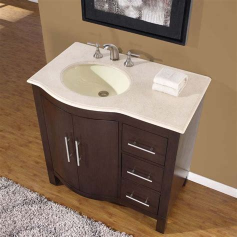 One Bathroom Sink Counter by 36 Quot Silkroad Single Sink Cabinet Bathroom